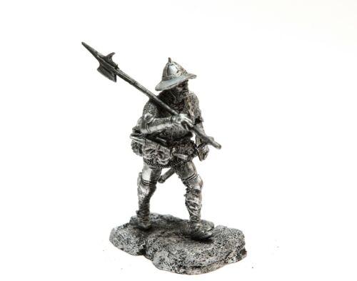 tin 54mm KN150 European halberdier 1460-75 1:32 VERSION 2