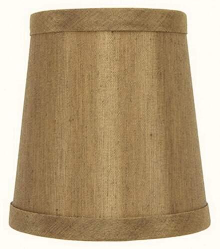 set of 6 Bronze Silk 4 Inch Barrel Drum Clip On Chandelier Shades