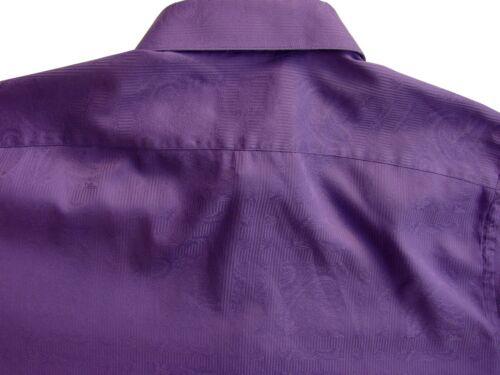 ROBERT GRAHAM Shirt Mens 17 L Purple - Paisley