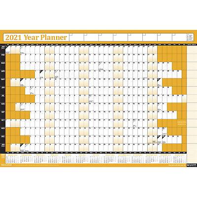 2021 Wall Planner Calendar Chart 13 month view Home Office ...