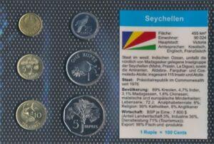 Seychellen-Stgl-unzirkuliert-Kursmunzen-2004-2007-1-Cent-bis-5-Rupees-9030228
