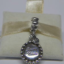 New Authent Pandora 791278CZ Charm Sweet Niece Clear CZ Dangle Box Included