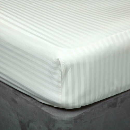Belledorm Hotel Suite Satin Stripe 540 TC Cotton 15 Inch Extra Deep Fitted Sheet