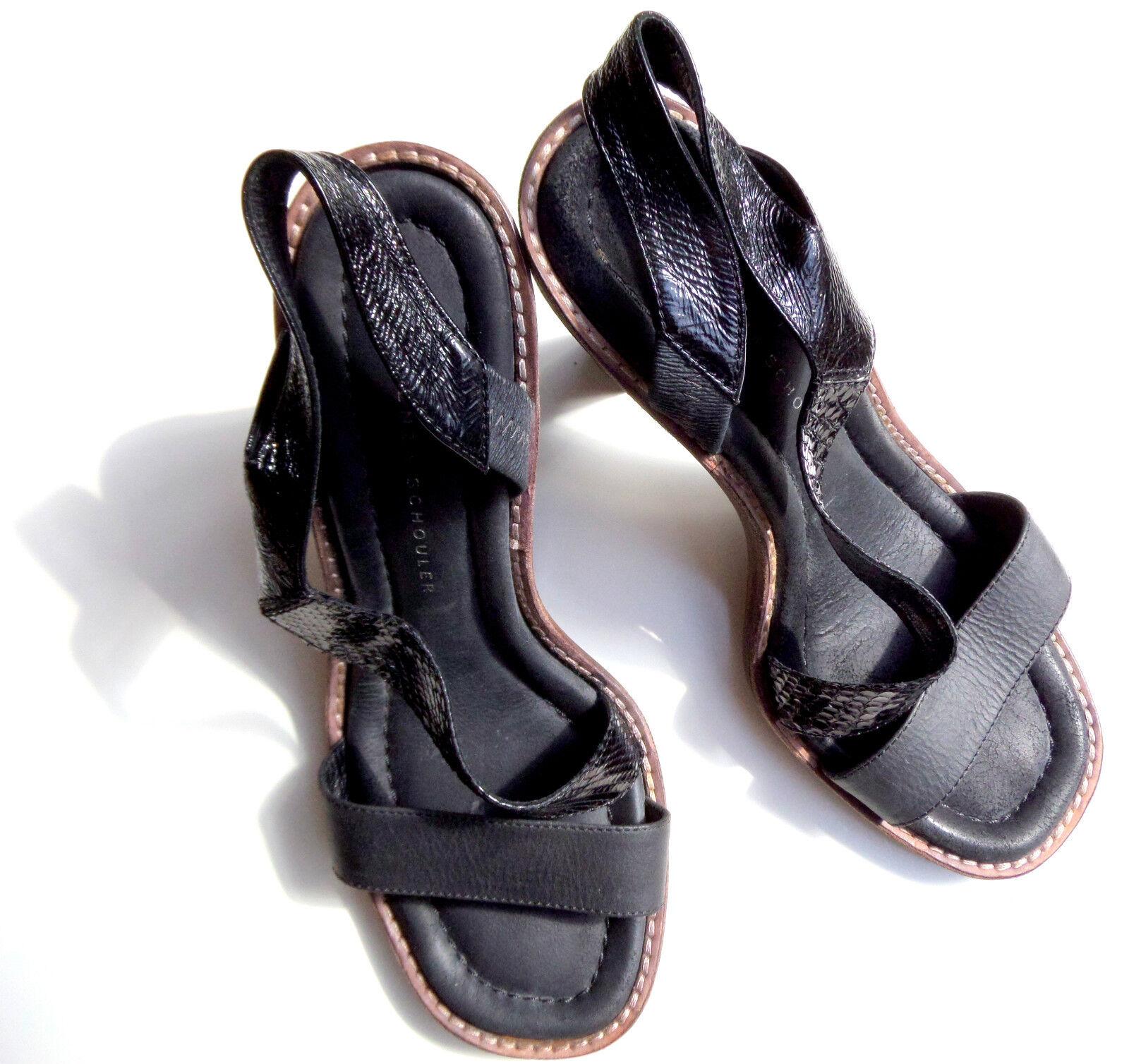 T O P PROENZA SCHOULER Damen Leder Sandaleette Art in Gr. 38.5 e v t l. 39