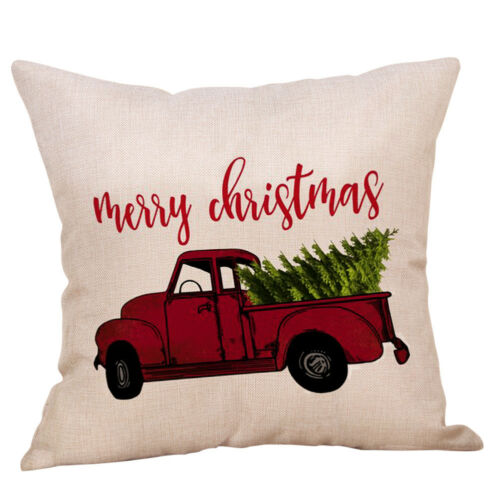 Christmas Xmas Gift Throw Pillow Case Cover Cushion Sofa Car Home Decor Bu