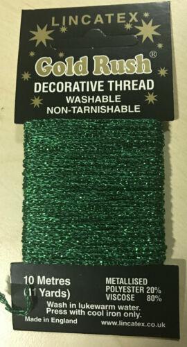 Lincatex Decorative Glitter Thread CARD 10 METRES 11 Yards ~ Sameday Despatch