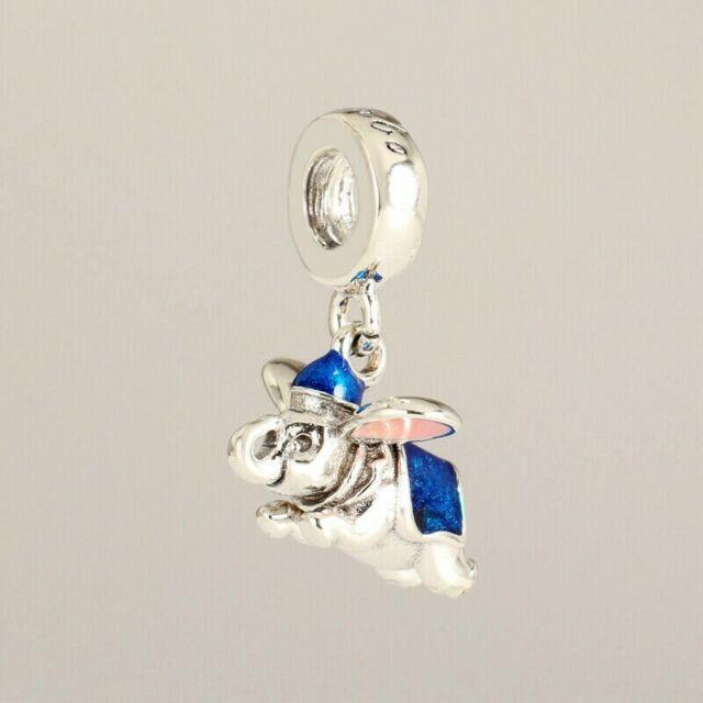 Authentic Pandora 792124 Silver S925 ALE Disney Flying Dumbo Dangle Charm