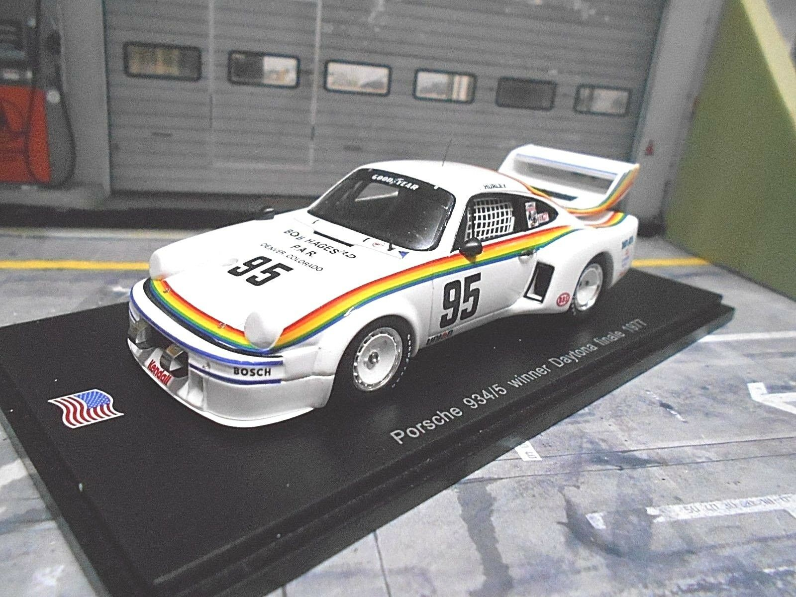 PORSCHE 934 5 934 5 Daytona Winner 1977  95 Haywood hagestad New Spark 1 43