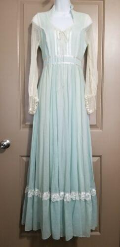 70's GUNNE SAX Jessica McClintock Prairie Dress Bl