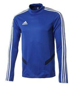 Details about Adidas Men TIRO 19 Training Shirts L/S Soccer Blue Jersey Tee Top Shirt DT5277