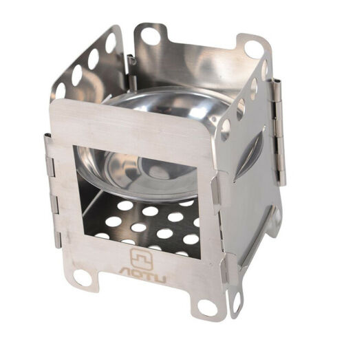 Folding Camping Stove Portable Small Solid Fuel Outdoor Cooking Accesssories D