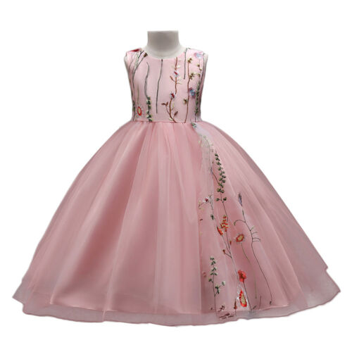 Flower Girl Dress Tulle Wedding Pageant Prom Communion Party Dresses for Kid