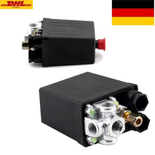 Druckschalter für Kompressor mit Manometer und Netzkabel mit 230 V SchukosteckMP