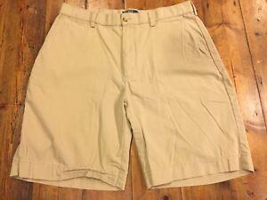 01518ba8b RALPH LAUREN Men s Prospect Khaki Flat Front Chino Shorts- Size 34 ...