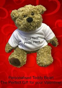 valentine s day gift for her personalised custom teddy bear any text