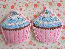 1 x Sweet Cupcake Ferro Su Ricamato Patch Badge Applique Motivo fai da te