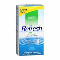 5 Pack - Refresh Plus Lubricant Eye Drops Single-use Containers 70 Each on sale