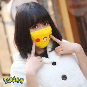 Pikachu-Cute-Face-Masks-Mouth-Muffle-Anti-Dust-Anime-Pocket-Monster-Unisex