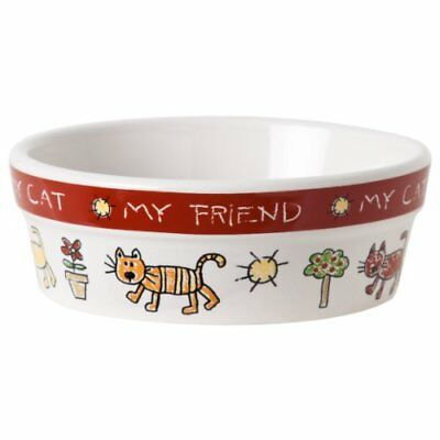 Water/feeding Bowl Size Xs New Colour Me Happy Signature Housewares Cat