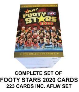 2020-AFL-AFLW-SELECT-FOOTY-STARS-223-COMPLETE-FULL-COMMON-CARDS-BASE-SET