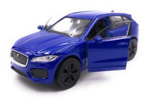 Maquette-de-Voiture-Jaguar-F-Pace-Tous-Terrains-Bleu-Auto-Echelle-1-3-4-39