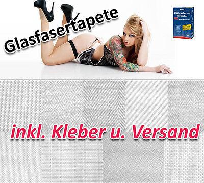 Glasfasertapete INKL. Kleber und Versand +++ Glasgewebe Glasfasergewebe