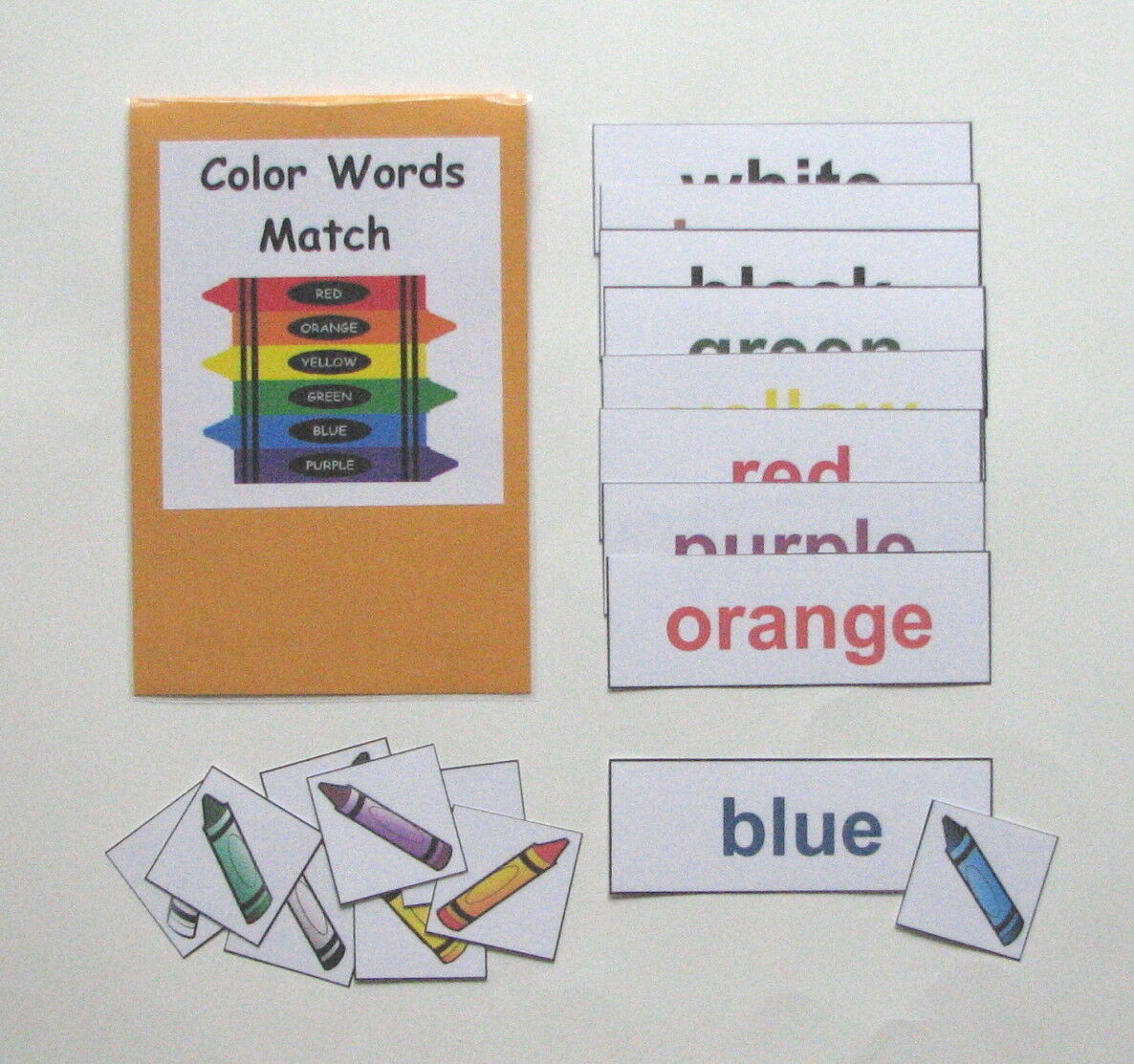 Teacher Made Center Educational Learning Resource Game Color Words Match 3