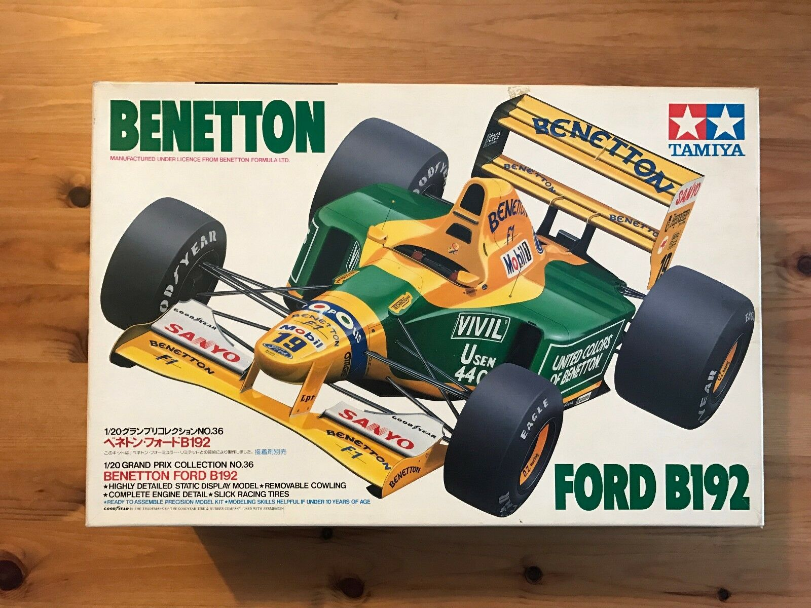 Tamiya 20036 1 20 Benetton B192 New Sealed
