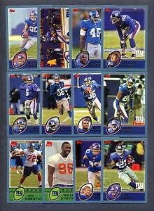 2003-Topps-Football-New-York-Giants-TEAM-SET-MINT