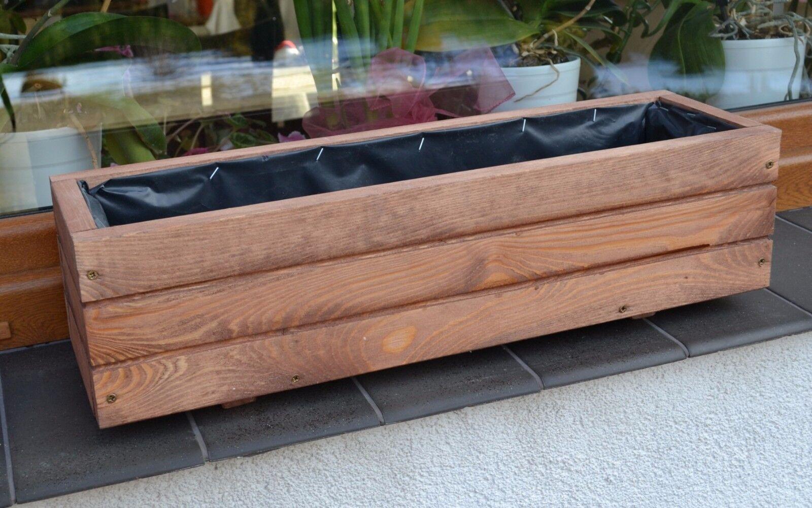 Pflanzkübel Holz D2 Pflanzkasten 80//100 cm XXL Blumenkasten Blumenkübel Robust