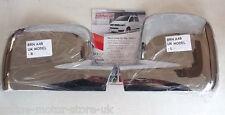 VW Transporter T5 + VW Caddy Ala Cubierta De Espejo Ajuste-Cromo-Totalmente Nuevo-Par