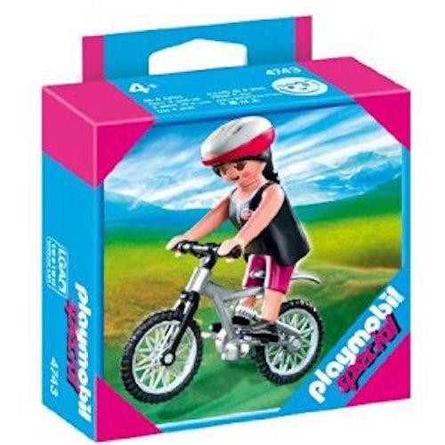 Playmobil 4743 Ragazza In Mountain Bike in box mai mai mai aperto 8a2dd9