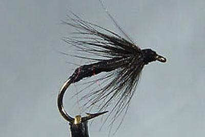 10 x Mouche de peche Noyee Araignée Noire H10//12//14 mosca spider wet fly