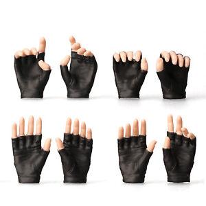 8pcs-1-6-Scale-Female-White-Black-Gloves-Gun-Hold-Hands-for-12-034-Phicen-PH-Figure