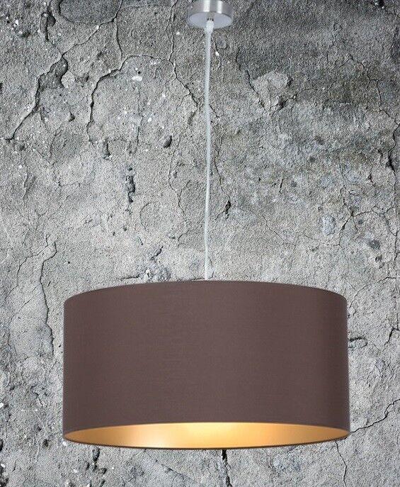 Hängelampe Hochwertige Hängeleuchte Wohnzimmer Esszimmer Braun Gold Ø 55cm 2XE27
