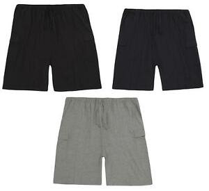 Mens-Plus-Size-Cotton-Jersey-Cargo-Shorts-Lounge-shorts-3-5-XL