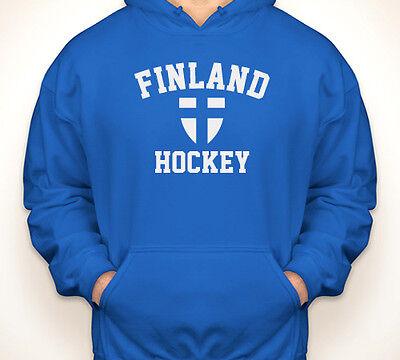 SUOMI Finland Finnish flag//pride team hockey blue jersey//hooded sweatshirt S-5XL