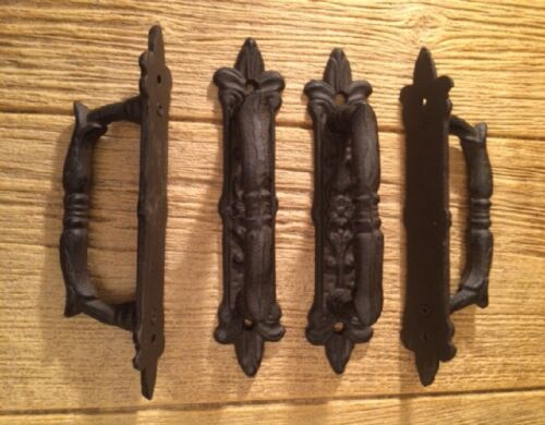 """Large Door Handle Pull Cast Iron 9/"""" Set of Six Home Decor Supplies 0184-0015"""