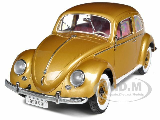 1955 VOLKSWAGEN BEETLE KAFER oro  THE ONE MILLIONTH  CAR 1 12 BY SUNSTAR 5204