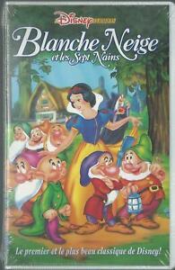 Cassette-VHS-Du-Film-Blanche-Neige-et-les-Sept-Nains-De-David-Hand-k7-VHS-Neuf