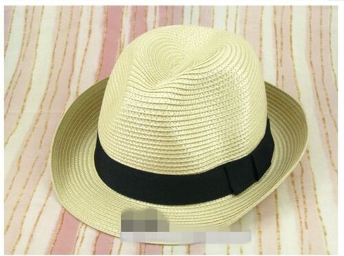 Men Women MJ fashion Party Trilby PP Straw dance Gangster Fedora Beach Hat Gift
