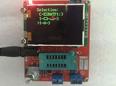 Transistor Tester LCR Diode Capacitance ESR meter PWM Frequency Signal Generator