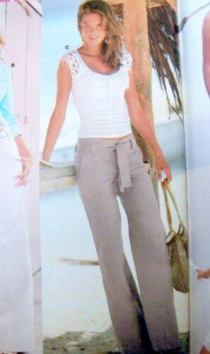 "VICTORIA/'S SECRET MARISA FIT BELTED LINEN TROUSERS PANTS White 2,4,6,8 32/"""