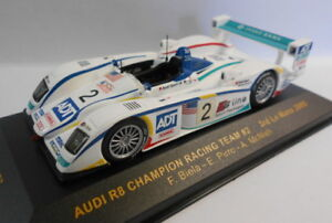 IXO-escala-1-43-LMM077-AUDI-R8-campeon-Racing-Team-2-Le-Mans-2005