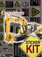 Excavator Safety Sticker Decals Exss