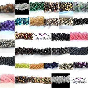 8mm-Semi-Precious-Gemstone-Rounds-Beads-Jewellery-Making-approx-46-50-beads