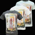 Mens 100% Coton ÉTé Femme image imprimé Haut T Shirt Taille M/L/XL/XXL Court SL
