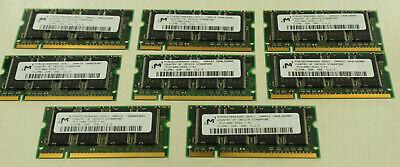 MICRON  PC2100S-2533-1-A1 512MB DDR 266 CL2.5 LAPTOP RAM MEMORY