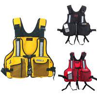 Unisex Adult Life Vest Jacket Fishing Pocket Buoyancy Aid Kayak Canoe Promo 2017