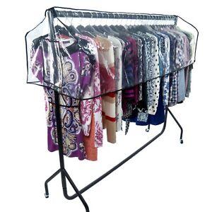 Hangerworld 6ft Clothes Rail Cover Clear Garment Protector Hanger Storage 5060447065593 Ebay
